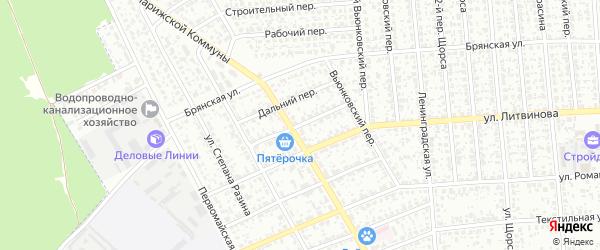 Молодежный переулок на карте Клинцов с номерами домов
