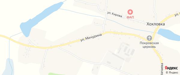 Улица Мичурина на карте села Хохловки с номерами домов