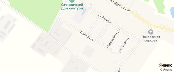 Полевая улица на карте села Сачковичей с номерами домов