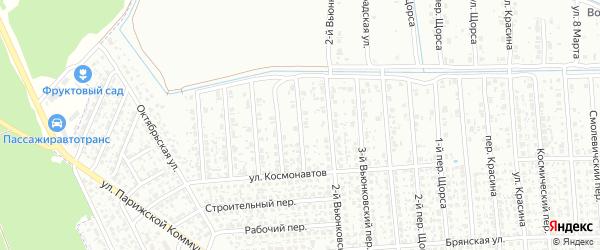 4-й Вьюнковский переулок на карте Клинцов с номерами домов