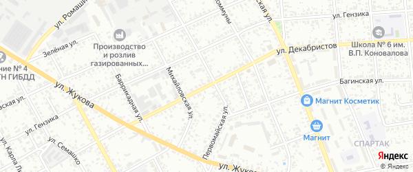 Проезд 2-й Декабристов на карте Клинцов с номерами домов
