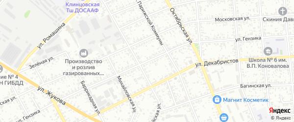Улица Гензика на карте Клинцов с номерами домов