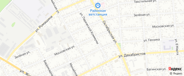 Московская улица на карте Клинцов с номерами домов