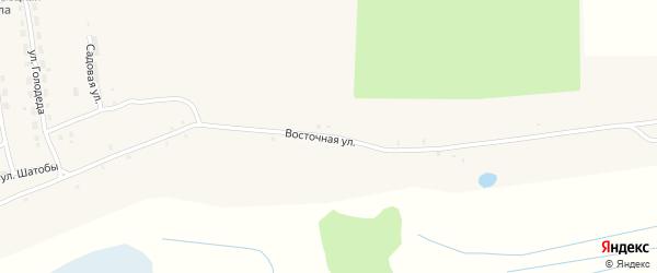 Восточная улица на карте села Старого Кривца с номерами домов
