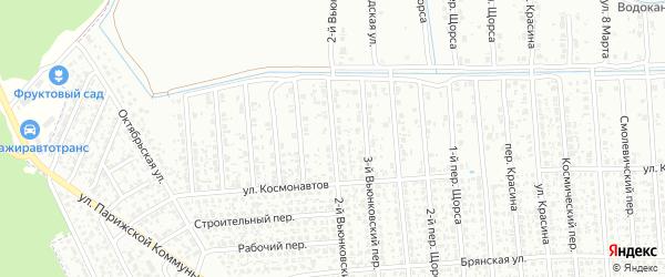 2-й Вьюнковский переулок на карте Клинцов с номерами домов