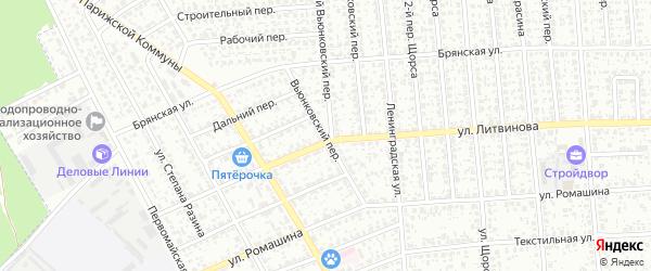 Вьюнковский переулок на карте Клинцов с номерами домов