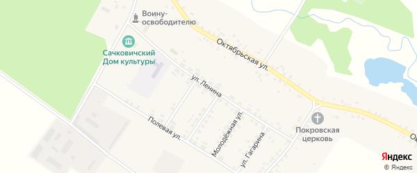 Улица Ленина на карте села Сачковичей с номерами домов