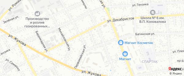 Первомайский переулок на карте Клинцов с номерами домов