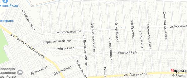 3-й Вьюнковский переулок на карте Клинцов с номерами домов