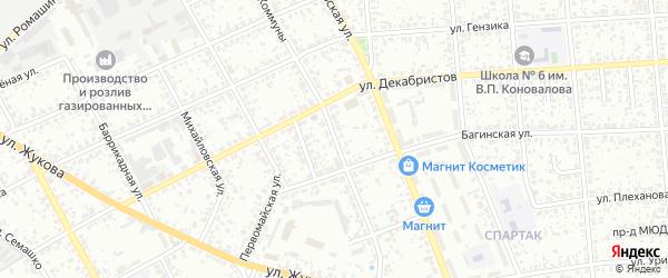 Улица Парижской Коммуны на карте Клинцов с номерами домов