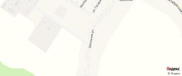 Школьная улица на карте села Сачковичей с номерами домов