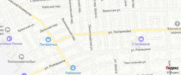Ленинградская улица на карте Клинцов с номерами домов
