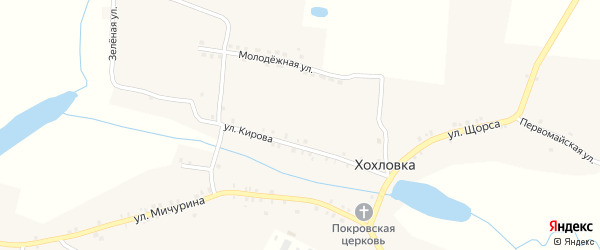 Новая улица на карте села Хохловки с номерами домов