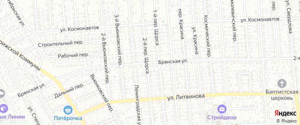 Брянская улица на карте Клинцов с номерами домов