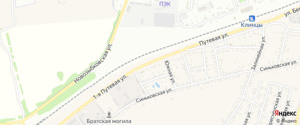 1-я Путевая улица на карте села Займища с номерами домов