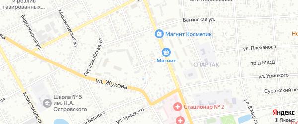Переулок Спартак на карте Клинцов с номерами домов