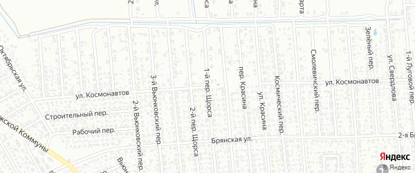 Улица Космонавтов на карте Клинцов с номерами домов