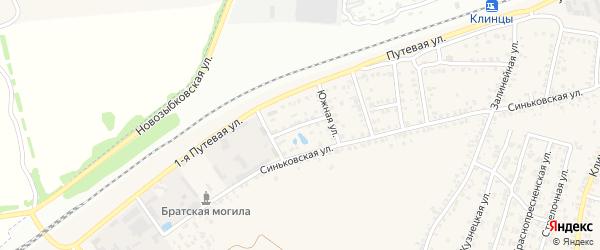 Южный переулок на карте села Займища с номерами домов