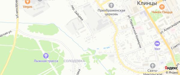 Переулок 1-й Урицкого на карте Клинцов с номерами домов
