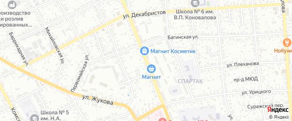 Октябрьская улица на карте Клинцов с номерами домов