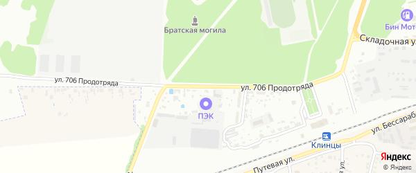 Улица 706 Продотряда на карте Клинцов с номерами домов