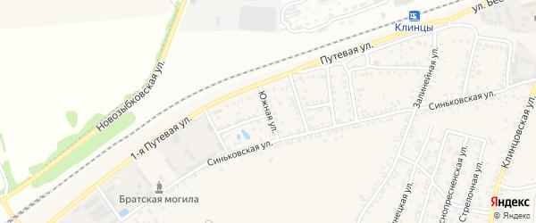 Южная улица на карте села Займища с номерами домов