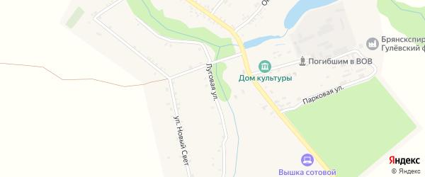 Луговая улица на карте села Гулевки с номерами домов