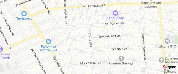 Текстильная улица на карте Клинцов с номерами домов