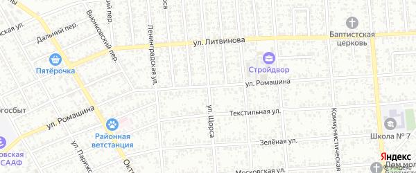 Улица Щорса на карте Клинцов с номерами домов