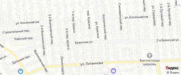 Переулок Красина на карте Клинцов с номерами домов