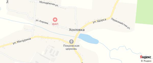 Школьная улица на карте села Хохловки с номерами домов