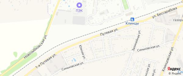 Путевая улица на карте села Займища с номерами домов