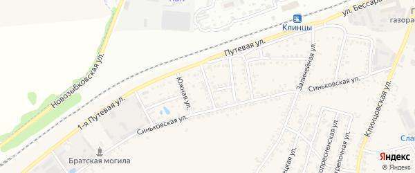 2-я Железнодорожная улица на карте села Займища с номерами домов