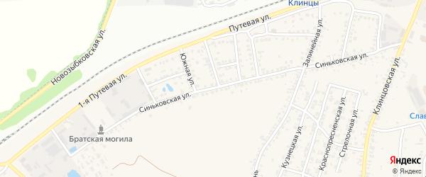 Синьковская улица на карте села Займища с номерами домов