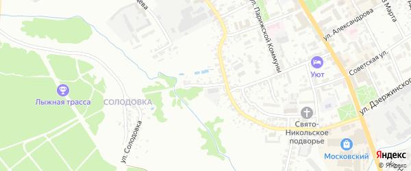 Переулок Карла Маркса на карте Клинцов с номерами домов