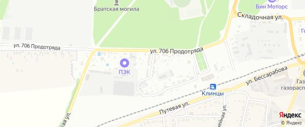 Вокзальный переулок на карте Клинцов с номерами домов
