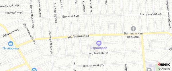 Улица Литвинова на карте Клинцов с номерами домов