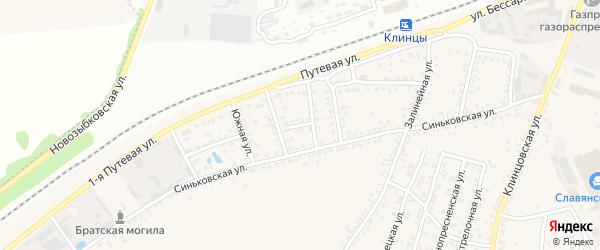 Переулок Тупик на карте села Займища с номерами домов