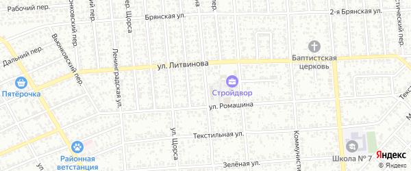 Улица Красина на карте Клинцов с номерами домов