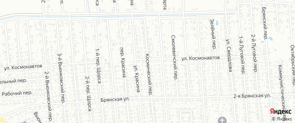 Космический переулок на карте Клинцов с номерами домов