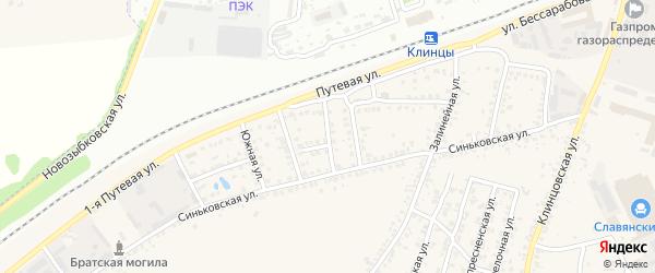 Железнодорожный переулок на карте села Займища с номерами домов