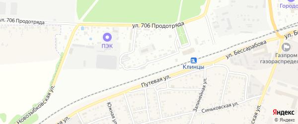 Станционная улица на карте Клинцов с номерами домов