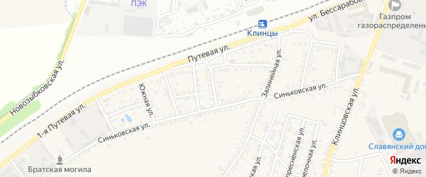 Улица Железнодорожная Будка на карте Клинцов с номерами домов