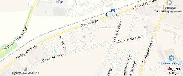 1-я Железнодорожная улица на карте села Займища с номерами домов