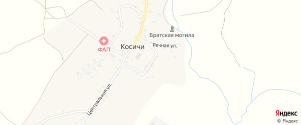 Улица Казиревка на карте села Косичи с номерами домов
