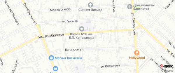 Багинский переулок на карте Клинцов с номерами домов