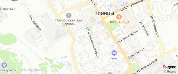 Улица Льва Толстого на карте Клинцов с номерами домов