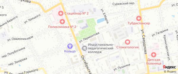 Улица Лермонтова на карте Клинцов с номерами домов