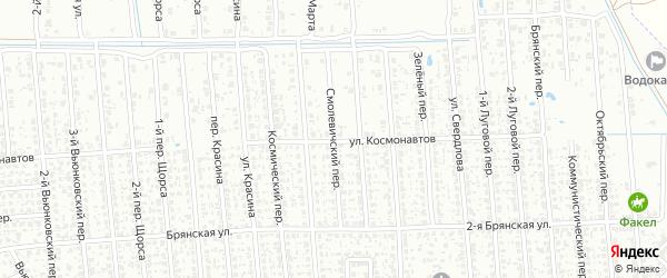 Смолевичский переулок на карте Клинцов с номерами домов