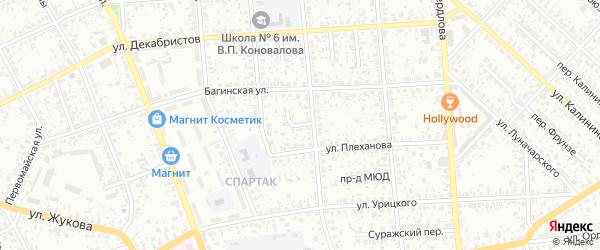 Проезд 8 Марта на карте Клинцов с номерами домов